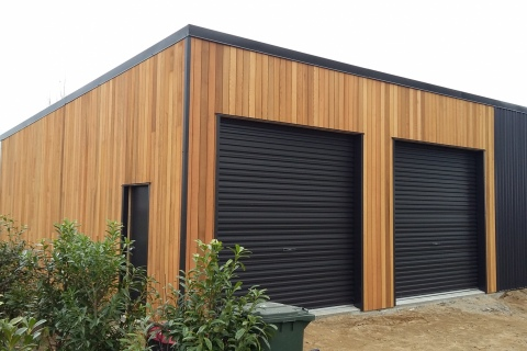 Wood And Steel Shed